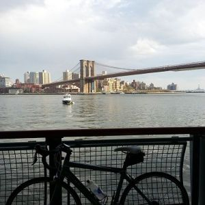 Bikeway by the Brooklyn Bridge