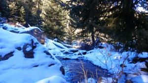 December - snowy hiking in Colorado